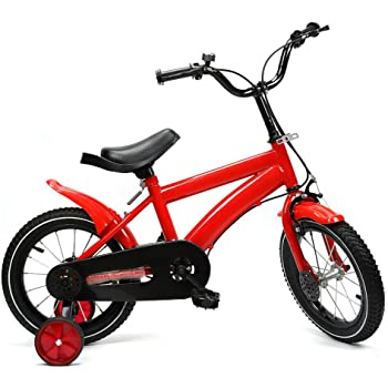 Shioucy - Bicicleta infantil de 14 pulgadas, para niños y niñas, bicicleta infantil, Niños infantil, rojo: Amazon.es: Deportes y aire libre