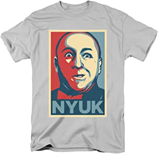 Three Stooges Slapstick Famous Comedy Group Nyuk Adult T-Shirt Tee