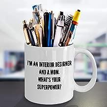 Best Interior Designer Mom Coffee Mug Funny Gift for House Decorator Mummy Christmas
