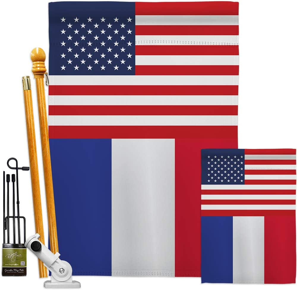 Outstanding Mail order Nationality France US Friendship Garden Flags Regional House Kit