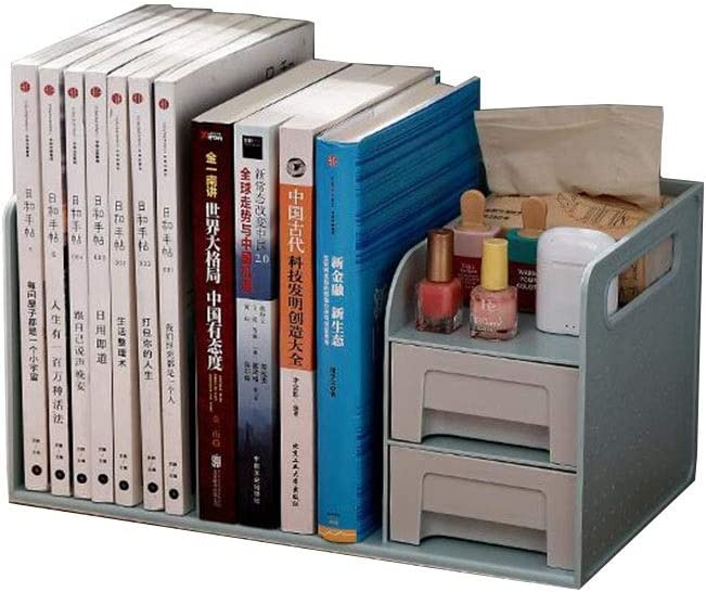 New Free Shipping Jcnfa-Shelves Desktop Book Storage Gorgeous Box Drawers, Standar with 2