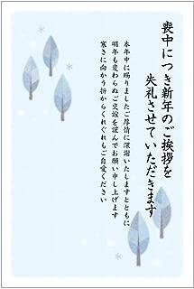 《官製 10枚》喪中はがき(ふゆもよう)(No.861)縦書きデザイン《63円切手付ハガキ/胡蝶蘭切手/裏面印刷済み》