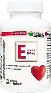 Nature's Wonder Vitamin E 180mg (400IU) Soft Gels, 150 Count