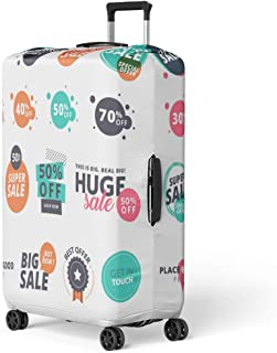 Pinbeam Luggage Cover Flat Sale for Online Shopping Product Promotions Travel Suitcase Cover Protector Baggage Case Fits 26-28 inches
