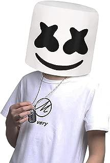 DJ Mask, Music Festival Helmets, Full Head Masks Halloween Party Props Costume Mask White