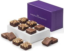 Fairytale Brownies Sugar-Free Magic Morsel Dozen Gourmet Chocolate Food Gift Basket - 1.5 Inch x 1.5 Inch Bite-Size Brownies - 12 Pieces - Item HF512