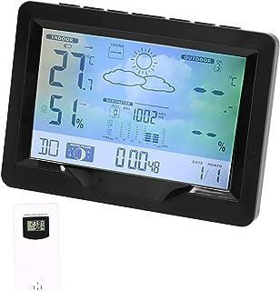 Väckarklocka, stor digital display Lätt att läsa Trådlös hygrometer för inomhus för utomhus