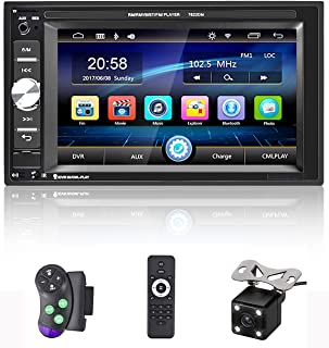 """$68 » Double Din Car Stereo Bluetooth Car Radio with 6.2""""HD Digital Touch Screen Car MP5 Player FM Radio Support SWC Mirror Link..."""
