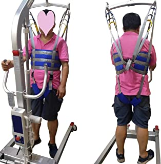 Full Body Patient Lift Slings Drive Medical Thigh Hip Waist Lumbar Back Supports Standing Aids Leg Trainers Exercise with Padded Chest Buffer Large Load Capacity 506 Lbs AnyBack