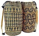 Guru-Shop Trenzado Mochila étnica de Indonesia, Unisex - Adultos, Multicolor, Tamaño:One Size, Mochilas y Bolsa de Deporte
