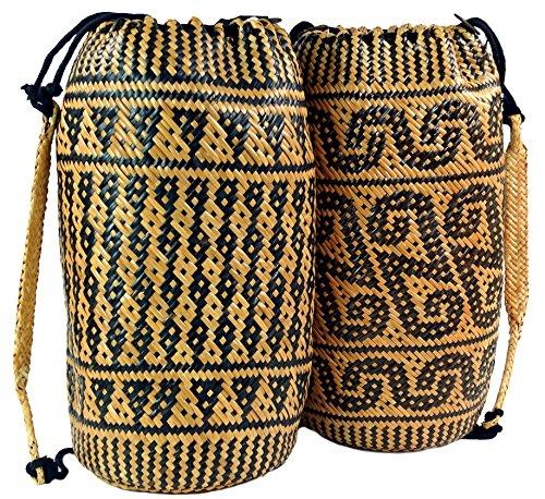 GURU SHOP Geflochtener Indonesischer Ethno Rucksack, Herren/Damen, Mehrfarbig, Size:One Size, Ausgefallene Stofftasche