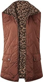 Women Sleeveless Fleece Jacket for Winter Vest Female Slim Reversible Vest Windproof Warm Waistcoat with