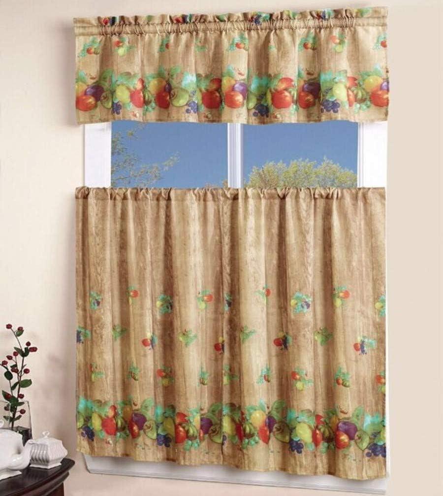 California Drapes 3PC Printed Kitchen 1 Curtain Elegant Max 69% OFF Valanc Tailored
