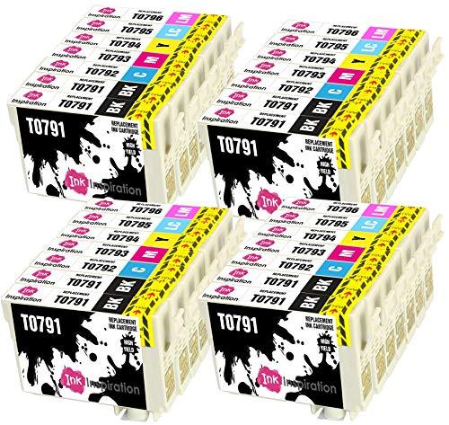 INK INSPIRATION® Ersatz für Epson T0791-T0796 Druckerpatronen 28er-Pack, kompatibel mit Epson Stylus Photo 1500W 1400 P50 PX720WD PX700W PX800FW PX810FW PX820FWD PX830FWD PX650 PX660 PX710W PX730WD