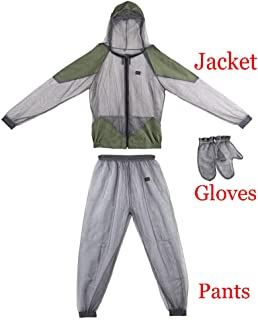 Lixada Mosquito Suit - Whole Body Repellent Bug Jacket Mesh Hooded Suits Men Women Ultra-fine Mesh Insect Protective for Outdoor Fishing Hiking Camping Gardening Farming