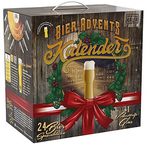 Kalea Bier Adventkalender Edition Österreich, 24 x 0,33 l österreichische Bier-Spezialitäten und 1 Verkostungsglas, perfekte Geschenkidee für Männer zur Vorweihnachtszeit