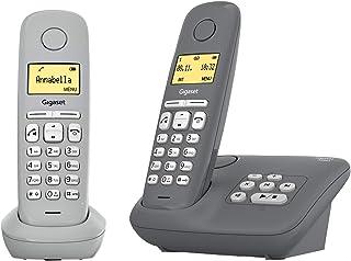 Gigaset A280A Duo   2 Schnurlose Telefone mit Anrufbeantworter   brillante Audioqualität auch beim Freisprechen   intuitive, symbolbasierte Menüführung   Kurzwahltasten   Grafik Display, grau