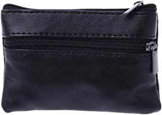 EJY Men Women Soft Coin Purse Card Key Holder Bag Zip Wallet Pouch