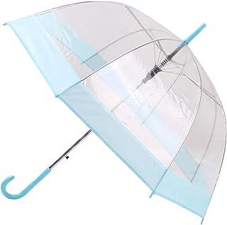 Clear Bubble Umbrella Transparent Umbrella Dome Umbrella Blue Pink Red Black Trim for Kids Girls Boys
