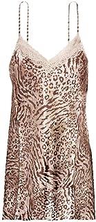 IngerT Satin Lace Sleepwear Lingerie Adjustable Spaghetti Strap Babydoll Chemise V Neck Short Nightdress Slip Dress for Women