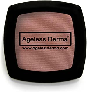 Ageless Derma Pressed Natural Mineral Makeup Blush Mauvelous with Vitamin A, E and Green Tea