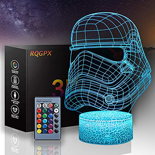 3D noche luz Star Wars niños noche luz Darth Vader D 3D niño bebé creativo mesa dormir lámpara