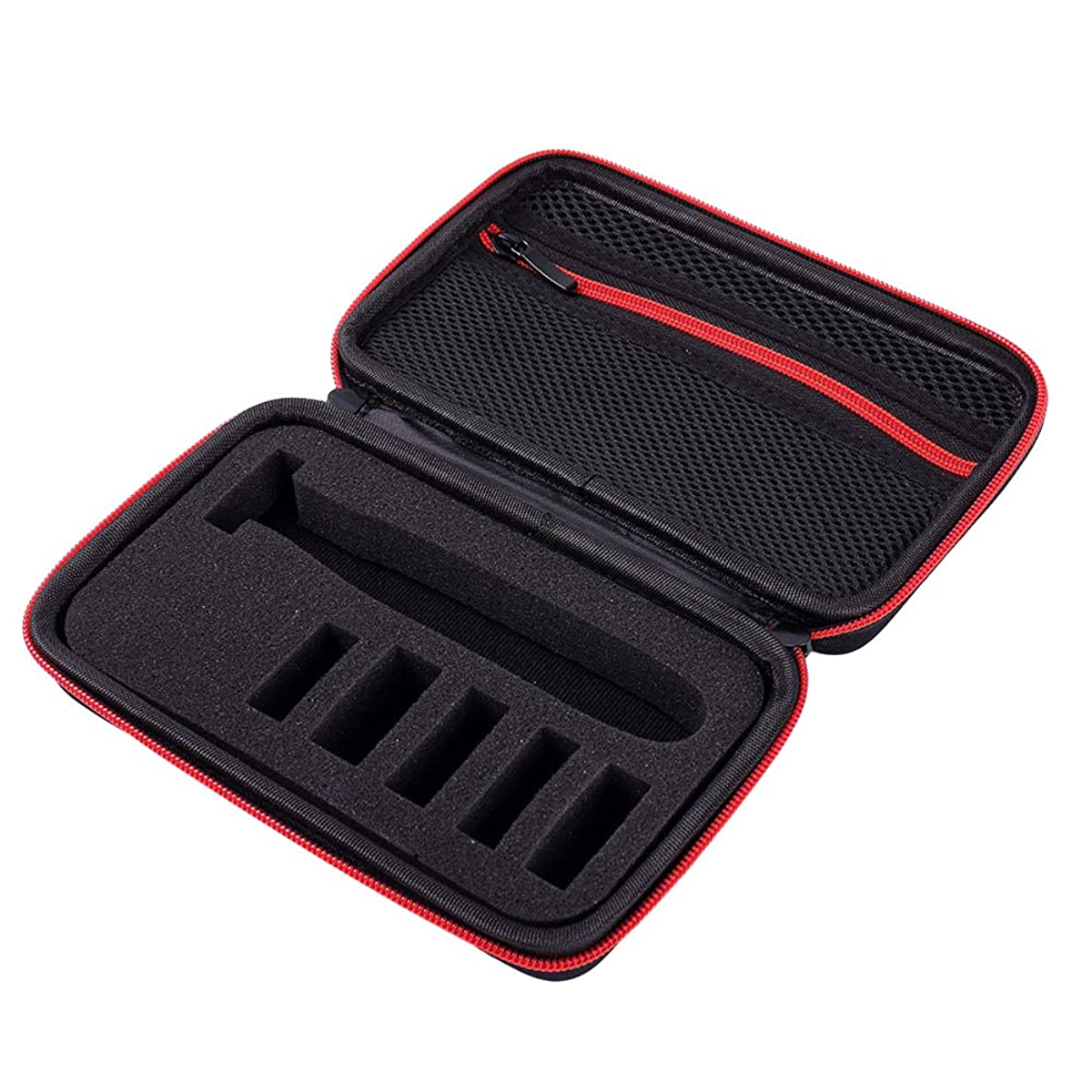グローのホストまたはどちらかSUPVOX シェーバーケーストラベル電気シェーバー収納オーガナイザーキャリングバッグ(レッドジッパー、モデルQP2530 / 2520に適用可能)