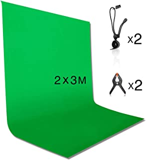 背景布 緑 クロマキー 撮影用 グリーンバック 200 x 300 cm バックペーパー 布バック 写真スタジオ 全身撮影 無地 写真/ビデオ/テレビに対応 ポリエステル 2.0m x 3.0m