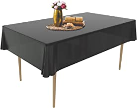 [12 Pack] Tablecloth 54 x 108 Inch, Puricon Disposable Rectangular Table Cover for Buffet Table, Parties, Holiday Family D...