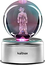 3D Cool Laser Etching Crystal Ball Night Light Gift Lamp for Kids Children Christmas (Son Goku)