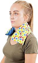 Saco Térmico Semillas Cervical - Almohada Cuello para Calentar en Microondas (50x12 cm) - Cojín de Semillas - Bolsa de Calor con Funda lavable, Tela de Algodón 100% y Olor a Lavanda (Corazones)