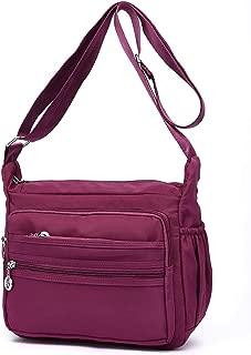Collsants Small Nylon Crossbody Bag for Women Everyday Purse Travel Shoulder Bag Multi Pocket