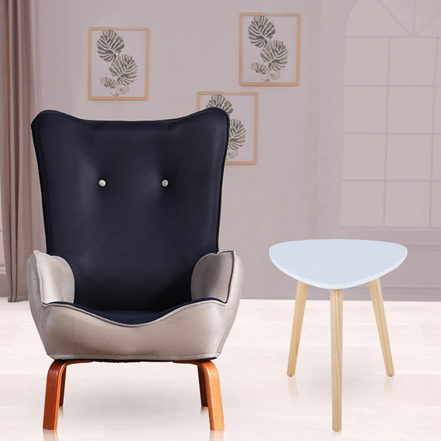 MEIDUO Bar stools Kids Childrens with Fabric Chair Armchair Sofa Seat Stool (Color : Navy Blue, Size : Chair and Table)