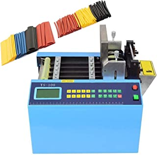 MXBAOHENG YS-100 Auto Heat-Shrink Tube Cutter Auto Tube Cable Pipe Cutting Machine for Belt/Tube/Wire/Sheet/Film/Tape/Sleeve/Rubber/Plastic Webbing Cutting Width:0-100mm 110V/220V