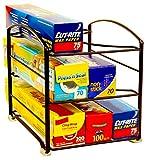 DecoBros Kitchen Wrap Organizer Rack, Bronze (Small/Standard, 2-1/2' BOX)