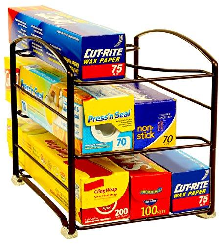 DecoBros Kitchen Wrap Organizer Rack Bronze SmallStandard 2-12 BOX