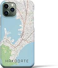 【函館】地図柄iPhoneケース(バックカバータイプ・ナチュラル)iPhone 11 Pro 用 <全国300以上の品揃え> シンプル おしゃれ 大人 個性的 耐衝撃素材のiPhoneカバー(アイフォンケース アイフォンカバー スマホケース スマホカバー)