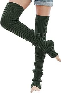 Nanxson Damen Mädchen Extra Lang Basic Leg Warmer Gestrickte Over-Knee Lange Stulpe Beinstulpe Tanzen Strumpf TTW0056