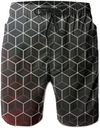 1c1d350485a1d PPANFKEI Hive Honeycomb Mens Cool Quick Drying And Breathable Boardshorts  Loose Fit Lined Lounge Shorts With