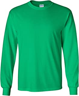 Gildan Mens Ultra Cotton 100% Cotton Long Sleeve T-Shirt