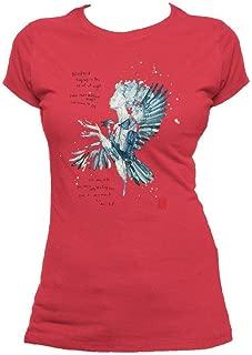 Beatles David Mack Blackbird Official Women's T-Shirt (Red)