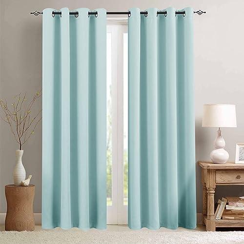 Sky Blue Curtains: Amazon.co.uk