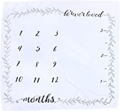 TOYANDONA Baby Monthly Milestone Blanket Cotton DIY Personalized Baby Month Blanket Photography Background Backdrop with G...