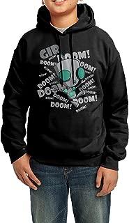 Invader Zim Art Boys Sweaters/Hoodie Hooded Sweatshirts/Fleece Hoodies Black