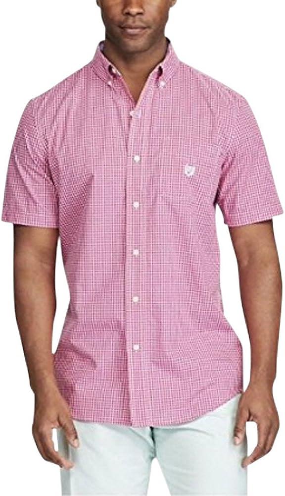 Chaps Men's Big & Tall Short Sleeve Shirt Peony