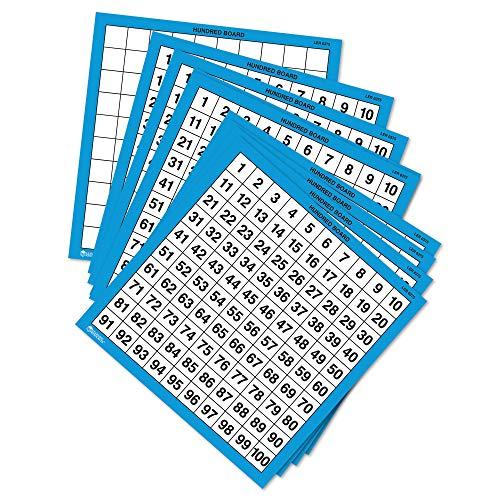 Tableros de cien números de escribir y borrar de Learning Resources (set de 10)