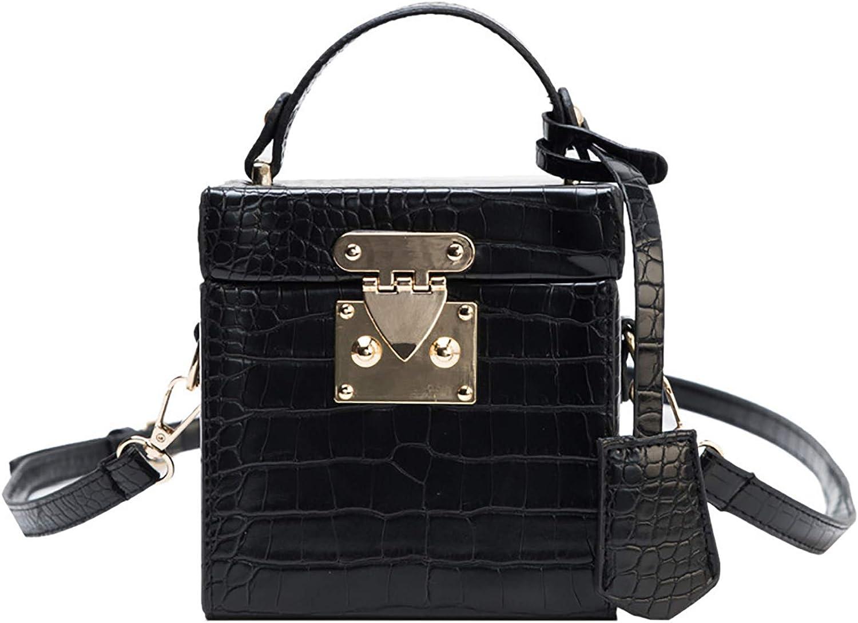 QZUnique Women's Square Box Handbag PU Cube Crossbody Shoulder Bag Wedding Clutch Bag Purse