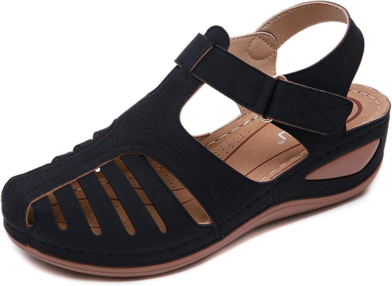 EnllerviiD Women Sandals Summer Hollow Popular brand Vintage Clo Gorgeous Wedge