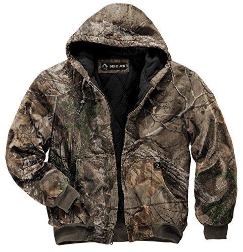 DRI Duck Men's 5020 Cheyenne Hooded Work Jacket, Realtree Xtra, X-Large