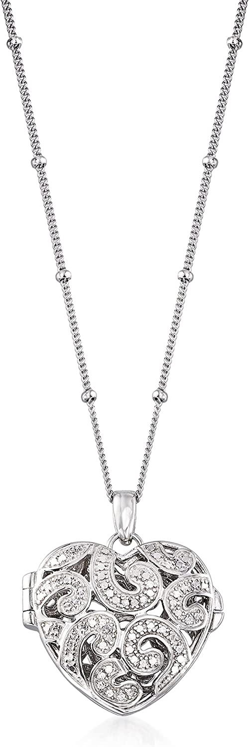 Ross-Simons favorite Sterling Silver Heart Locket Recommendation With D Necklace Pendant